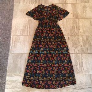 Maxi Dress with Split Sleeve detail